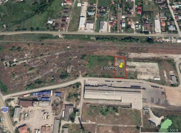 teren cu deschidere 30 m la drum asflatat  , pt constructie hala industriala - imaginea 1