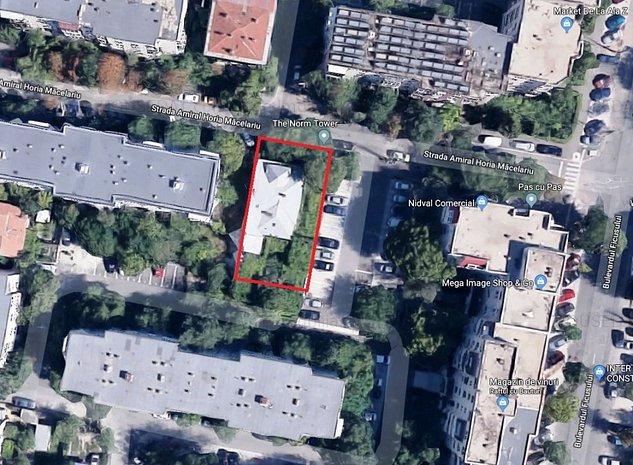 Vanzare teren + casa Baneasa, intravilan, 457mp, deschidere 15m, - imaginea 1