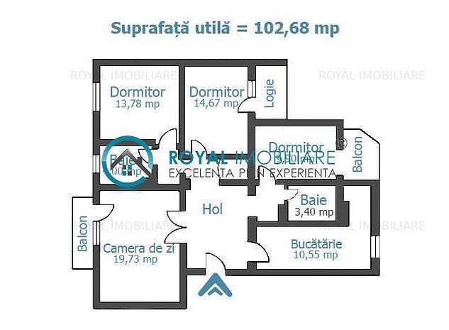 Royal Imobiliare- vanzari apartamente 4 camere zona Centrala - imaginea 1