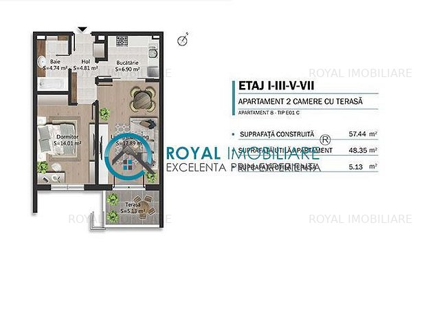 Royal Imobiliare - Vanzari apartamente bloc nou B-dul Bucuresti - imaginea 1