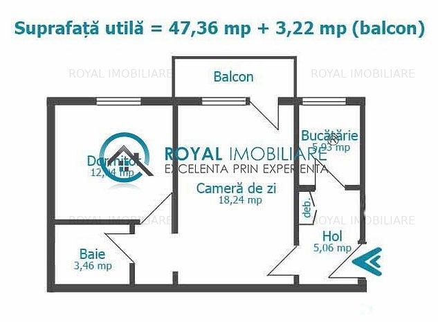 Royal Imobiliare - Vanzari 2 camere, zona Nord - imaginea 1