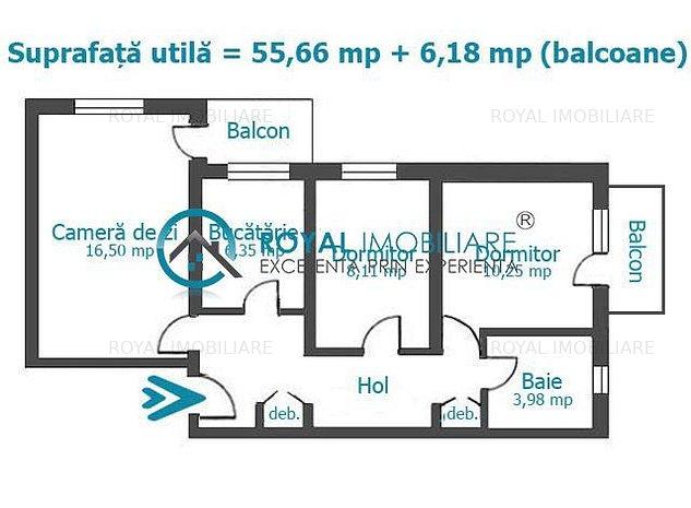 Royal Imobiliare - Vanzari apartamente 3 camere - Zona Mihai Bravu - imaginea 1