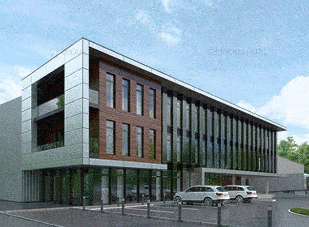 Teren cu utilitati, proiect, avize - depozit si birouri - ISU - imaginea 1