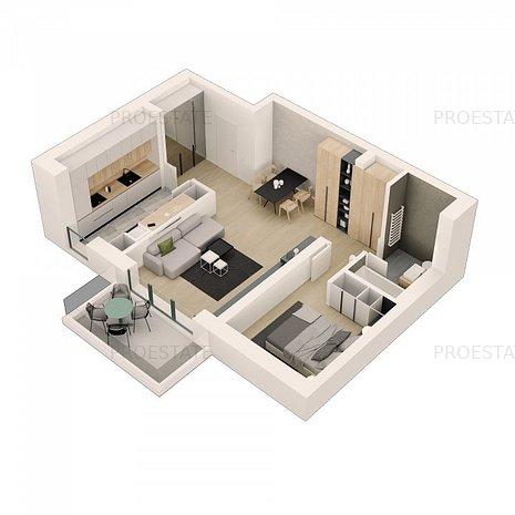 Apartament 2 camere spatios, Basarabia - C Georgian, complex Green Residence - imaginea 1