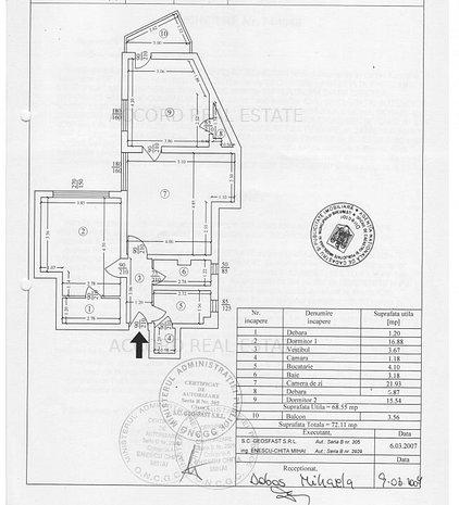 Sala Palatului, bloc 1964, fara risc seismic, vedere lateral-spate spre Cismigiu - imaginea 1