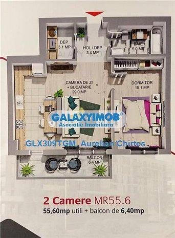 Apartamente cu 2  camere de vanzare in Complexul Maurer Rezidence - imaginea 1