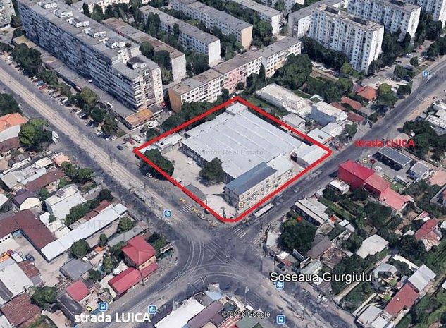 Spatiu industrial zona Giurgiului-Luica, deschidere la 2 strazi intens circulate - imaginea 1