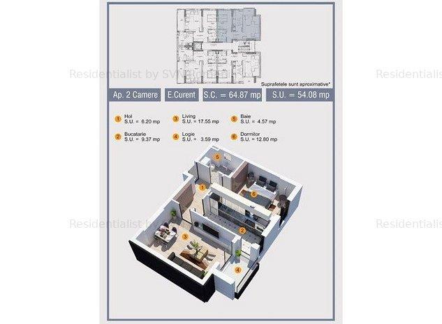Apartament Bloc Nou Lacul Mori: PLAN APARTAMENT