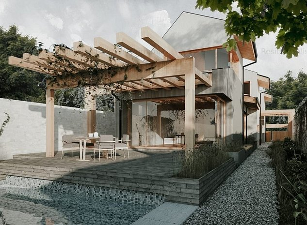 Casa moderna cu acces la lacul Snagov