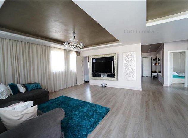Penthouse 3 camere|70 mp terasa |2 garaje |Parcul Intre Lacuri | - imaginea 1