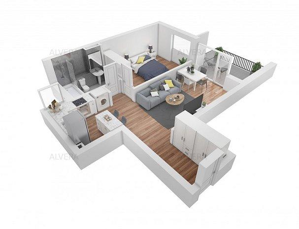2 camere, ideal investitie, ansamblu premium, FINISAT complet - imaginea 1