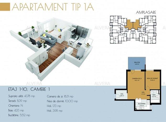 Apartament 2 camere, cu panorama inspre oras, ideal investitie! - imaginea 1