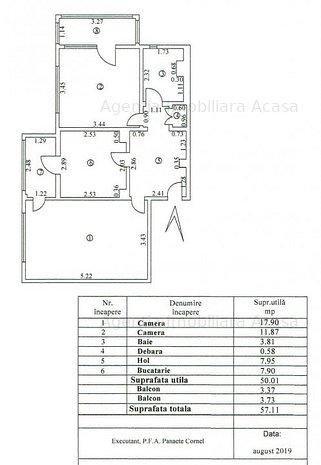 Apartament de vanzare de 2 camere decomandate cu 2 balcoane in SidWest - imaginea 1