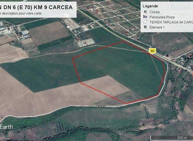 Teren Carcea / S=238.126 mp/ T 34-P 373-Lot2-  DN 6 Craiova-Caracal  - imaginea 1