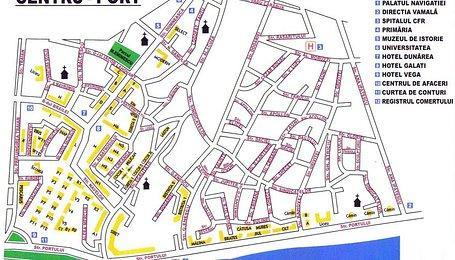 Apartamente Galati, Central