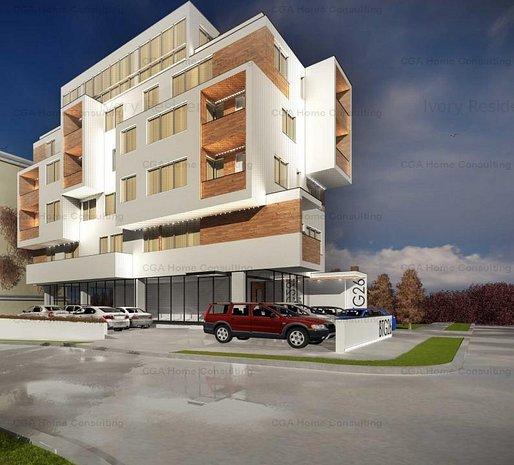 Apartament 3 camere de 83 MPC , ROOA RESIDENCE- STRAULESTI, COMISION O% - imaginea 1