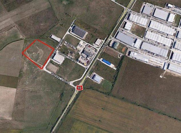 Teren cu PUZ industrial in zona Sagului - imaginea 1
