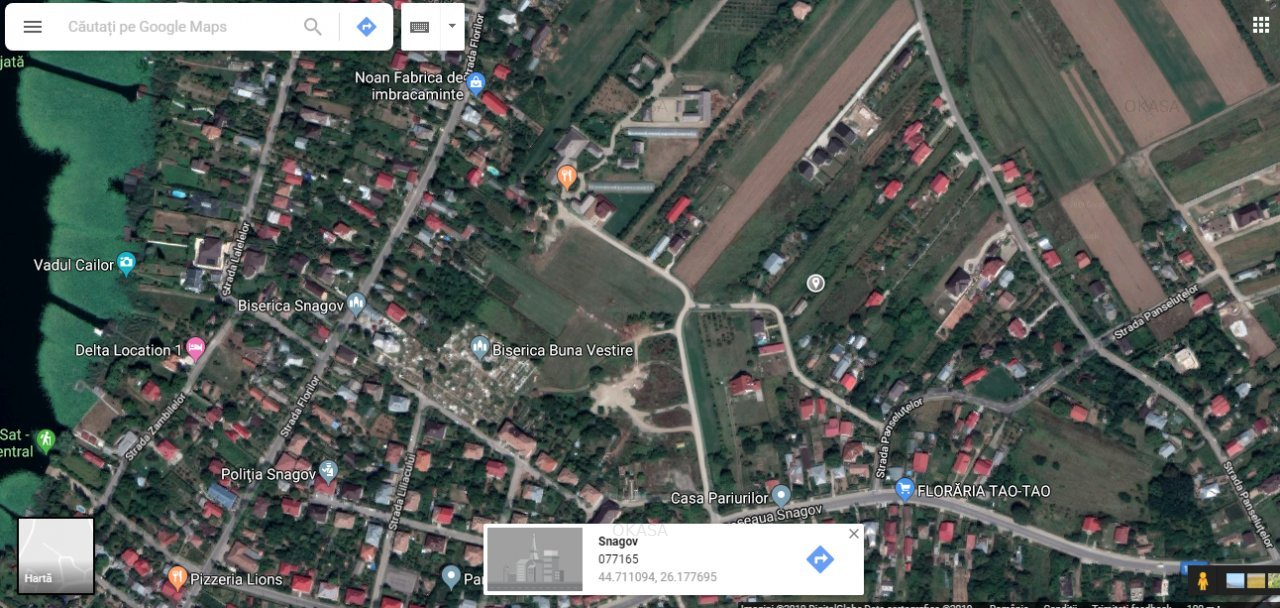 Vanzare Teren Snagov Gradina Vlahiia 1000 Mp 29 Euro Mp