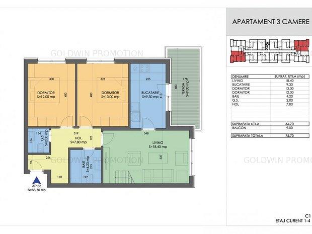 PROMOTIE - Garsoniere si Apartamente cu 2 si 3 camere - COMISION 0% - imaginea 1