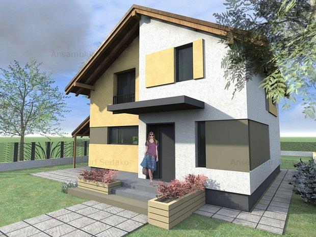 Casa de 100 mp la cheie in cartierul serena cu 3 for Case de 100 mp