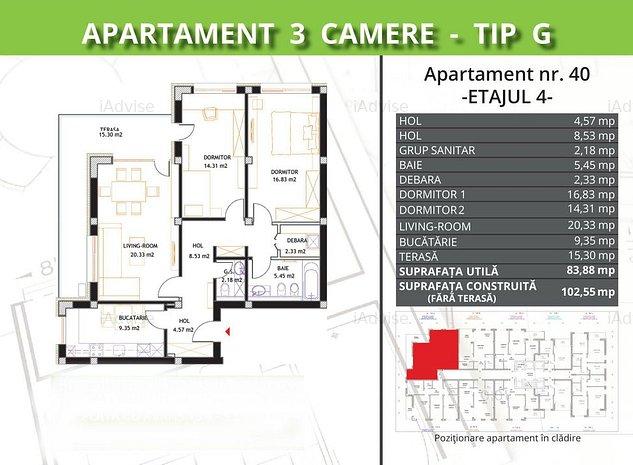 Valcom Residence, 3 camere, Comision 0% - imaginea 1
