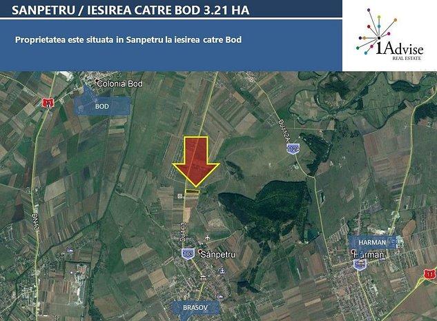 Teren 32,100mp Sanpetru /DJ 103 - Oportunitate dezvoltare rezidentiala - imaginea 1