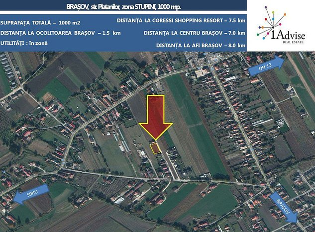 Teren constructii rezidential - Stupini - Brasov - imaginea 1