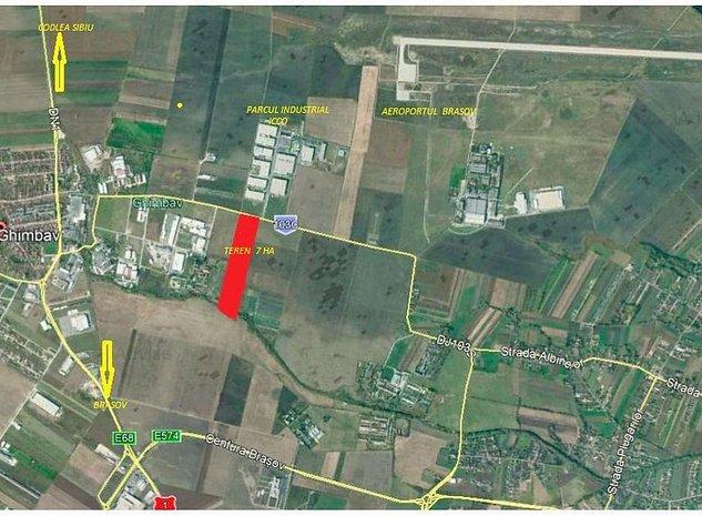 Teren Ghimbav 7 ha zona Aeroportului - imaginea 1