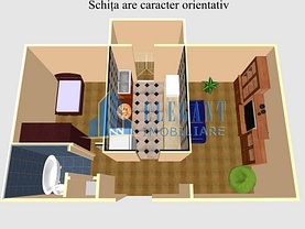 Apartament de închiriat 2 camere în Craiova, 1 Mai