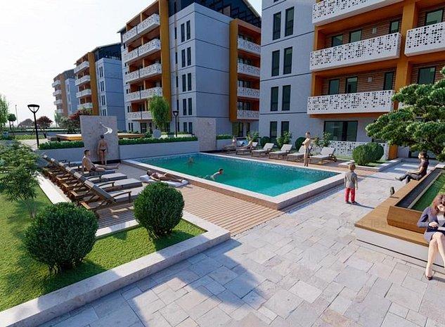 Apartamente 1,2 si 3 camere in ansamblu rezidential cu piscina! - imaginea 1
