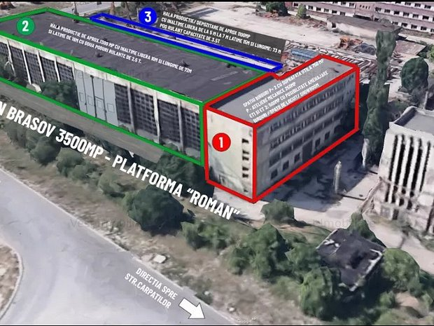 Hală producție + spațiu birouri 3.250 în Brasov - imaginea 1