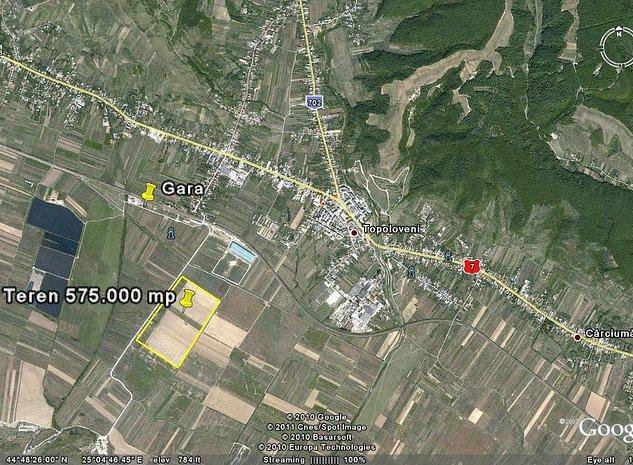 Topoloveni, jud. Arges vand teren 575.087 mp - imaginea 1