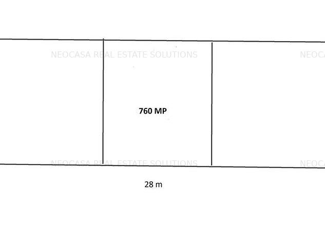 STRAULESTI - SPRE PADURE, 760 MP, DESCHIDERE 28 M, CASA DEMOLABILA! - imaginea 1