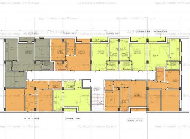 Teren cu proiect si autorizatie de construire bloc 70 apartamente - imaginea 1