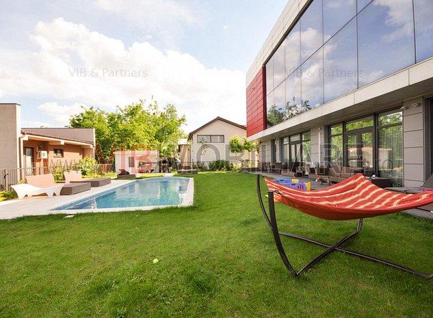 Pipera -Apartament 3 camere - mobilat-ut: Pipera -Apartament 3 camere - mobilat-utilat - cu curte si piscina