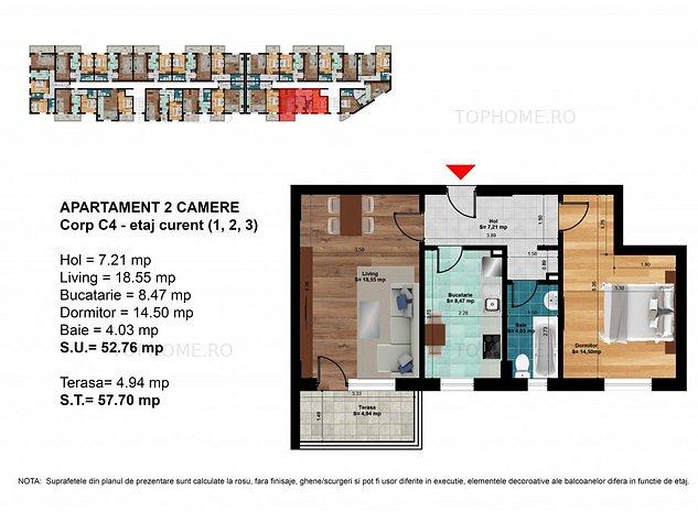 Berceni-Metrou-Apartament 2 camere-PRIMA CASA - imaginea 1