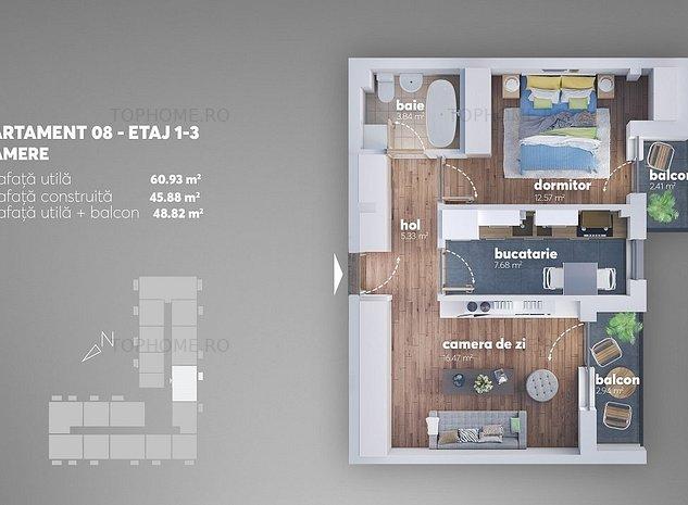 Berceni-Metrou Aparatorii Patriei-Apartament 2 camere decomandat - imaginea 1