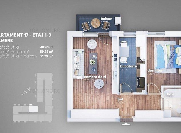 Berceni 2 camere 8 min metrou M2 Acceptam Credit Bancar - imaginea 1