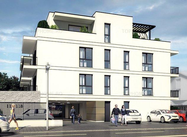 3 camere cu terasa, imobil boutique modern, 5 min metrou Aparatorii Patriei - imaginea 1