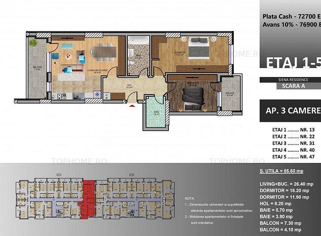 Dezvoltator Imobiliar 3 camere 8 min metrou M2 Berceni Avans 5% - imaginea 1