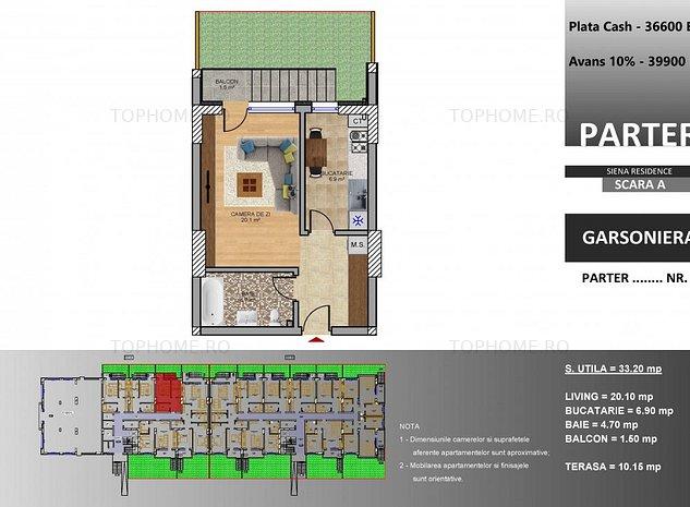 Dezvoltator Garsoniera cu curte de 15 mp langa metrou M2 Berceni - imaginea 1