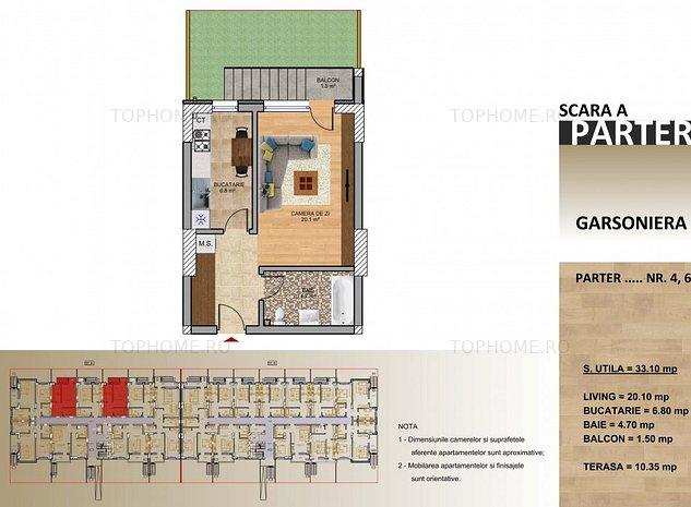 Garsoniera 33mp + Gradina 15mp - Metrou Berceni -700 m - imaginea 1
