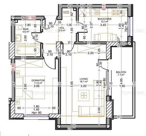 Berceni-Apartament 2 camere decomandat-Finalizare Vara 2021 - imaginea 1