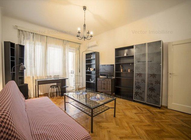Garsoniera parcul Cismigiu etaj 1*INVESTITIE* birou/ regim hotelier/ locuit - imaginea 1