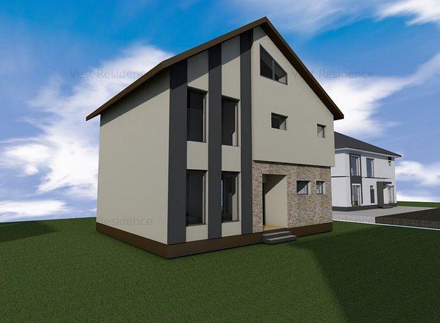 Casa individuala 4 camere si mansarda locuibila. Curte 330 mp. Comision 0 - imaginea 1
