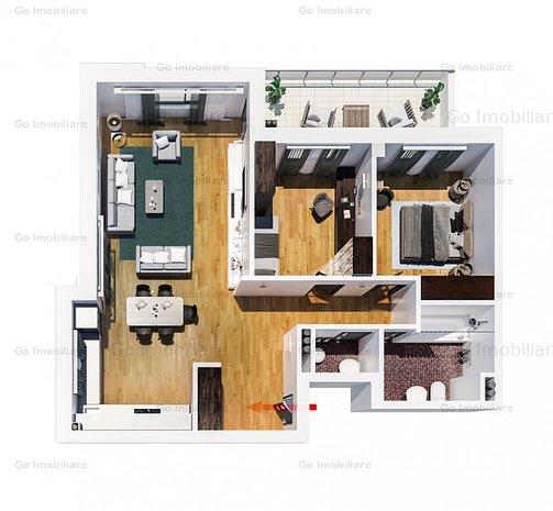 Apartament nou cu mutare imediata, 3 camere, Tatarasi - imaginea 1