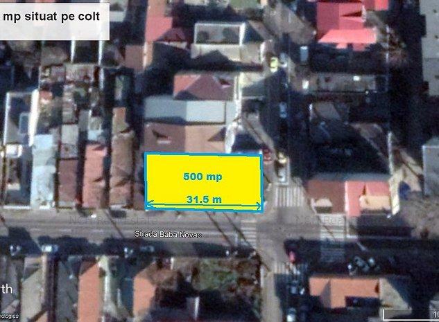 Teren 500 mp, situat pe colt, 31,5x16 - imaginea 1