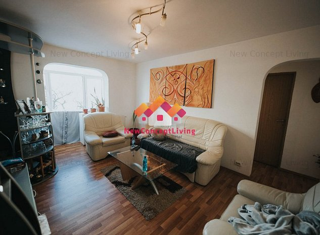 Apartament 3 camere, etaj 2/5, balcon si pivnita, zona Rahovei - imaginea 1