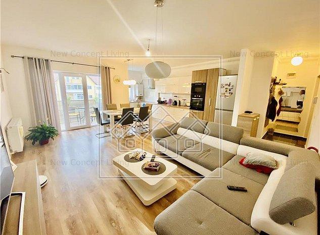 Apartament cu 3 camere de vanzare in Sibiu- Mobilat si utilat modern - imaginea 1