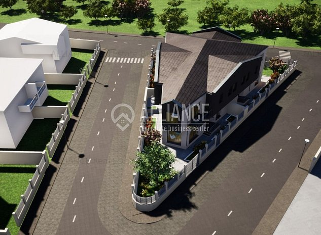 Ovidiu Sud cartierul nou malul lacului vila P+1E - imaginea 1